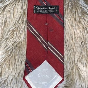 Dior- Christian Dior Red and Blue Necktie